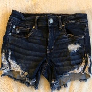 women's american eagle jeans shorts